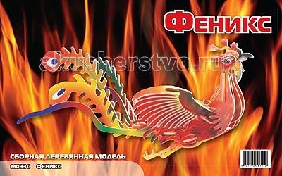 Конструкторы Мир деревянных игрушек (МДИ) Сборная модель Феникс цветной