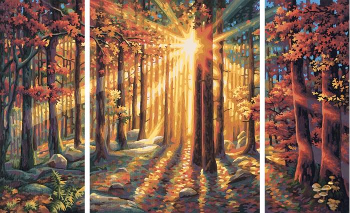 Schipper Картина по номерам Триптих Осенний лес 50х80 смКартина по номерам Триптих Осенний лес 50х80 смКартина по номерам Триптих Осенний лес 50х80 см - это превосходный выбор для юного художника! С этим набором ваш ребенок сможет самостоятельно нарисовать шедевр, который затем можно будет гордо показывать вашим гостям! И все это - совсем нетрудно, ведь при работе с набором используется уникальная система, разработанная немецкой фирмой Schipper.   Раскраски развивают в ребенке творческие способности, малыш учится рисовать, стремится к прекрасному, может проявить фантазию, сочетая разные оттенки между собой.   Особенности:   Готовая картина выглядит как настоящее произведение искусства.  Картина раскрашивается без смешивания красок.  Все необходимые цвета красок есть в комплекте. Просто закрашивайте участки красками с соответствующим номером.  В набор также входит фактурная картонная основа с пронумерованными контурами, кисть и контрольный лист, на котором вы можете потренироваться, прежде чем переходить к раскрашиванию основного листа.  Акриловые краски в данном наборе содержатся в очень плотно закрытых контейнерах. Благодаря этому, краски доходят до покупателя, сохранив свои свойства.  Размер: 50х80 см<br>
