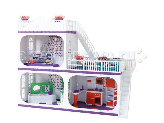Огонек Коттедж для кукол Barbie (Барби) Конфетти С- 1330 с мебельюКоттедж для кукол Barbie (Барби) Конфетти С- 1330 с мебельюОгонек Коттедж для кукол Barbie (Барби) Конфетти С- 1330 с мебелью. В домике 2 этажа, 3 комнаты, 2 мансарды, 2 лестницы.  Входная и межкомнатные двери в коттедже большие, белые, арочной формы. Двери легко открываются и закрываются.  Окна также белые, но не открывающиеся. Зато окна в домике декорированы настоящими шторами, что не присуще кукольным домам данного типа. В серии Конфетти на окнах практически настоящие карнизы и светлые текстильные шторы.  Этажи между собой соединены большими белоснежными лестницами.  Коттедж Коллекция полностью укомплектован игрушечной мебелью. Причем мебель очень реалистична, она выдержана в едином с домом стиле и цветах.  В комплекте:  коттедж Конфетти;  кухня Конфетти;  гостиная Конфетти;  ванная Конфетти;  спальня Конфетти;  люлька Коллекция;  уличные качели Коллекция;  инструкция. Куклы приобретаются отдельно.<br>