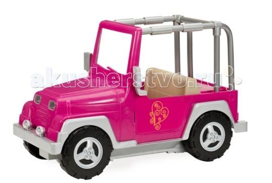 Our Generation Dolls Джип для куклы 46 смДжип для куклы 46 смOur Generation Dolls Джип для куклы 46 см сделает любую автомобильную дорогу самой приятной.   Куклы тоже любят совершать прогулки, бывать в различных интересных местах, ездить в другие города. Если Ваша малышка задумала для своих любимиц путешествие, никак не обойтись без машины.   Теперь ей будут не страшны длинные расстояния и большие дороги – все пути для неё открыты. Пусть девочка отвезёт своих подопечных в самые различные уголки города или страны. Что может быть лучше поездки на высокой скорости, когда тёплый ветер дует в лицо, развевая волосы, а солнечные лучи дарят ласку и покой? Вручите ребёнку радостные мгновения, которые ему способна предоставить только увлекательная поездка на быстром автомобиле с ветерком. Пускай малютка объедет вместе с куклой все самые знаменитые места, заедет в гости к друзьям и знакомым, посетит кинотеатры, кафе, спортивные мероприятия, концерты. С машиной для них открыты все дороги и маршруты, нужно только воспользоваться предоставленным шансом.<br>