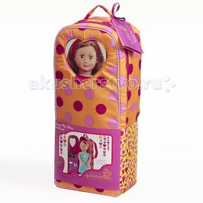 Our Generation Dolls Переноска для куклы 46 смПереноска для куклы 46 смOur Generation Dolls Переноска для куклы 46 см убережет игрушку и сделают путешествие комфортным.  Если Вы направляетесь в путешествие, а Вашу замечательную куклу некуда положить, то переноски именно то, что Вам нужно.   Изделие закрывается на молнию, просматриваемое окошко в виде сердечка позволит Вам приглядывать за куколкой и сделает переноски удобными. Внутри игрушки находятся многочисленные карманы, в которые Вы можете разместить различные аксессуары. Также кукла будет надежно зафиксирована к переноскам, благодаря надежным креплениям.<br>
