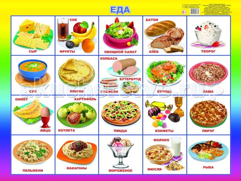 Обучающие плакаты Алфея Плакат Еда  обучающие плакаты алфея плакат инструменты
