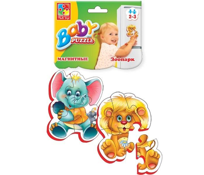 Пазлы Vladi toys Магнитные Беби пазлы Зоопарк сосульки магнитные на холодильник ниже нуля