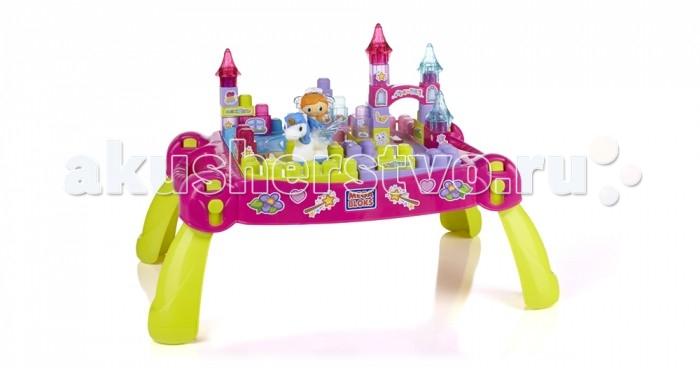 Конструктор Mega Bloks Mattel Стол Маленькая принцесса (30 деталей)Mattel Стол Маленькая принцесса (30 деталей)Вручите вашему ребенку сказочное веселье, открыв ему загадочные дверь в мир маленькой принцессы с помощью волшебного стола «Играй и путешествуй» от Mega Bloks.   Установите стол в любом месте с помощью четырех прочных ножек и представьте вашему ребенку возможность построить собственный маленький королевский двор, границами в котором будут только границы воображения вашего малыша.   Это красивый столик для возведения конструкций является прекрасной платформой для любых сверкающих башен и фантастических приключений; в набор маленькой принцессы входят 25 блестящих блоков, фигурка маленькой принцессы с волшебной светящейся диадемой и ее мистический пони-единорог!   Постройте достающие до неба башни, королевские покои и сияющие конюшни, украшенные различными видами цветных наклеек для всех деталей набора маленькой принцессы и ее пони-единорогов.  Когда сказка заканчивается, просто разместите детали в сказочном столе «Играй и путешествуй» и сложите ножки для простого перемещения и хранения!  Идеально подходит для детей в возрасте от 1 года до 5 лет.  Описание: Портативный тематический игровой набор «Маленькая принцесса» от Mega Bloks и стол для хранения 25 розовых и блестящих блоков First Builders Большое количество наклеек «Маленькая принцесса» для создания любого украшения В набор входит 1 фигурка маленькой принцессы с волшебной светящейся диадемой и ее пони-единорог со снимающимися крыльями Наслаждайтесь игрой с набором или сочетайте его с другими продуктами «Маленькая принцесса» от Mega Bloks<br>