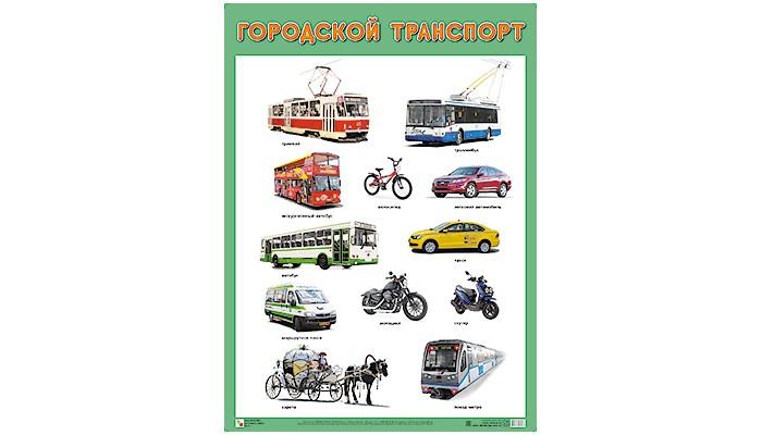 Обучающие плакаты Мозаика-Синтез ПЛ Городской транспорт ravensburger 100 шт городской транспорт