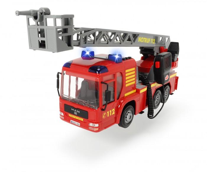 Dickie Пожарная машина 3716003Пожарная машина 3716003Dickie Пожарная машина, обязательно понравится вашему малышу и займет его внимание надолго.  Теперь ребёнок сможет удивить своих друзей этой уникальной игрушкой. Стоит только рядом с машинкой возникнуть возгоранию, как она его быстро потушит его из брандспойта, который разбрызгивает воду. Такая реалистичность несомненно приведет в восторг детей, а их игры станут разнообразнее и правдоподобнее. Кроме того, придумывая ход игры, ребенок улучшит воображение и фантазию.  Особенности:  Игрушка выполнена в виде пожарной машины.Размер машины – 43 см. На корпусе игрушки размещена лестница с площадкой и брандспойтом, которую можно выдвинуть и повернуть вокруг своей оси. Брандспойт оснащен функцией подачи воды. Транcпортное средство выполнено очень реалистично, при включении ребенок услышит звук пожарной сирены, а мигалки на кабине начнут светиться. Машинка оснащена рацией с громкоговорителем. На кузове машины есть яркие наклейки от принадлежности к пожарной службе. Игрушка окрашена в яркие цвета специальными устойчивыми и безопасными красителями. Машина изготовлена из ударопрочного пластика высокого качества.<br>