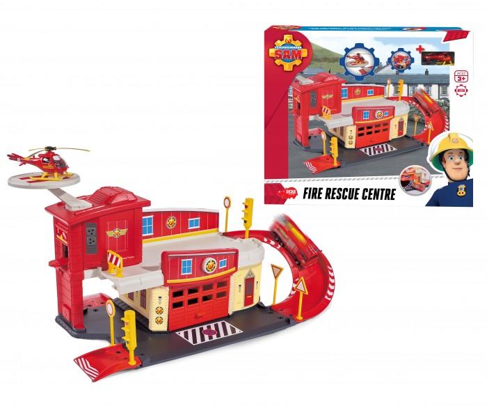 Dickie Пожарный Сэм Пожарный гаражПожарный Сэм Пожарный гаражDickie Пожарный Сэм Пожарный гараж с вертолетной площадкой.   Особенности:  Станция состоит из двух этажей, дорожек, гаража с функцией запуска и вертолетной площадки.  В набор входит 1 транспорт в масштабе 1:64.  Все модели выполнены крайне детально и аккуратно, в ярких насыщенных цветах, тщательно проработан каждый элемент.  Изделия изготовлены из прочного и высококачественного пластика и прослужат вашему ребенку очень долго.<br>