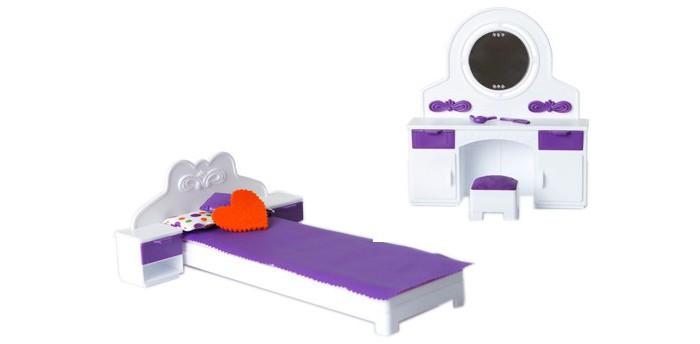 Кукольные домики и мебель Огонек Спальня Конфетти