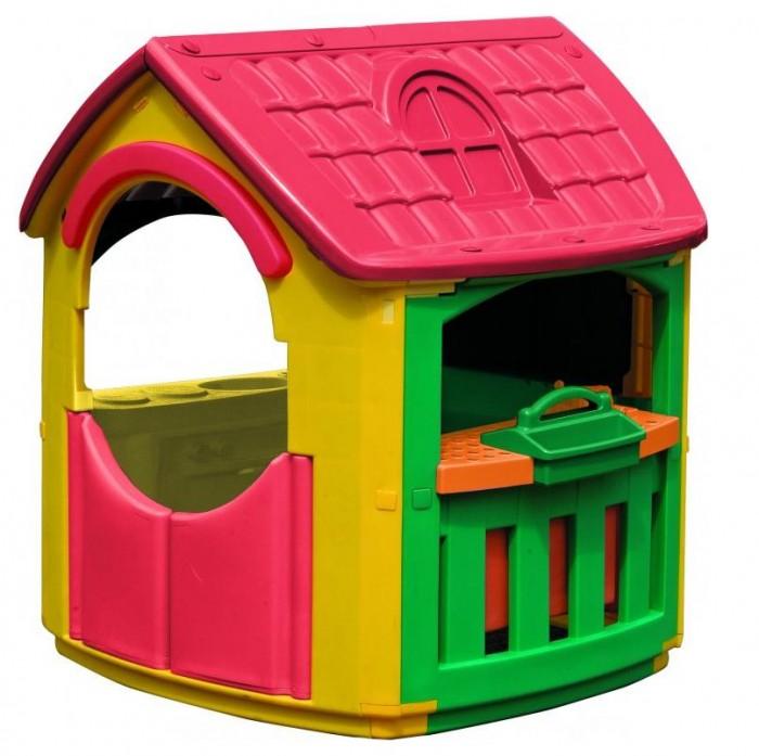 Palplay (Marian Plast) Игровой домик + гаражИгровой домик + гаражЦвета яркие, приятные для глаза и хорошего настроения.  Удобный красивый домик для веселой игры, для помещения и улицы.  Набор для кухни добавит новые идеи для маленьких помощниц и помощников.  Идеально для летнего отдыха на даче.   Домик сделан из современных, нетоксичных материалов, с соблюдением европейского стандарта качества и безопасности для товаров для детей. Яркий пластик. Сертифицировано в России. Игровой домик стимулирует малыша к активным действиям и движению, развивает воображение и стратегическое мышление.  К домику прилагаются предметы для гаража.  Размеры: 101x108x110.5h.  Вес нетто: 13.910кг<br>