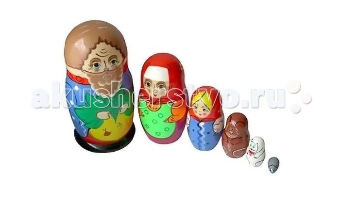 Деревянные игрушки Бэмби Матрешка Репка russia made матрешка 7м репка