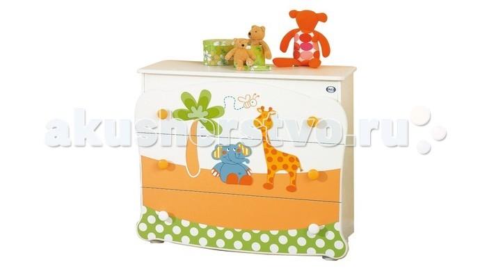 Комод Pali Gigi &amp; Lele бельевой (3 ящика)Gigi &amp; Lele бельевой (3 ящика)Комод Pali Gigi & Lele бельевой (3 ящика)  Очень забавный комод украсит любую детскую комнату и будет хранить множество полезных вещей. Итальянский дизайн и качество делают его неповторимым.  Особенности: имеет 3 объемных выдвижных ящика на роликах удобные эргономичные ручки Размер:107x54x92h Материалы: специальный влагоустойчивый прочный и легкий материал, шпонированный покрытием покрытие, аппликация - выдержанный бук лаки, краски и клеи - натуральные и нетоксичные<br>