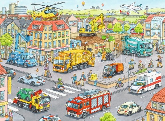 Пазлы Ravensburger Пазл Городской транспорт 100 элементов ravensburger 100 шт городской транспорт