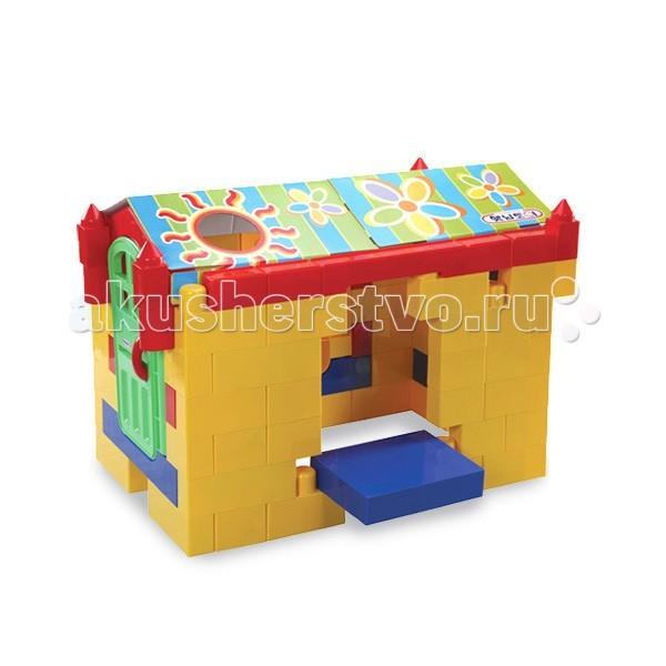 Haenim Toy Конструктор крупноблочный Биг Блок (92 детали)Конструктор крупноблочный Биг Блок (92 детали)Набор легких разноцветный пластмассовых блоков для строительства собственного дома и многого другого. Собирать и использовать можно как на улице, так и дома.   Конструктор выполнен из прочной нетоксичной пластмассы  В комплекте: сборные блокикирпичики различного цвета и формы, двери с ручкой и телефоном, элементы внутреннего убранства дома - полочки, зеркальце и прочее, другие декоративные элементы, также есть плотный картон с яркими рисунками из него получится отличная крыша.  Для детей от 1 года. Размеры: 62 х 62 х 47,5 см. Вес: 18,8 кг. Размер упаковки: 62 х 48 х 81 см. Вес с упаковкой: 23,8 кг.<br>