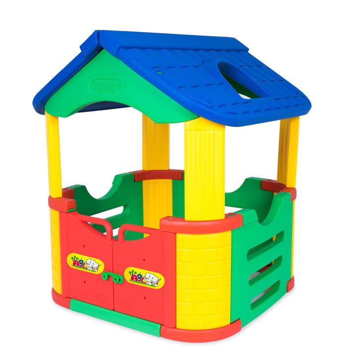Happy Box Игровой домик JM-802АИгровой домик JM-802АИгровой домик Happy Box JM-802А рекомендуется для детей от 1 года. Домик изготовлен из высокачественной пластмассы. Высота игрового домика - 124 см, площадь внутренней части домика - 100х100 см.   Высокачественная пластмасса,  Яркие краски,  Безопасен для малыша.<br>