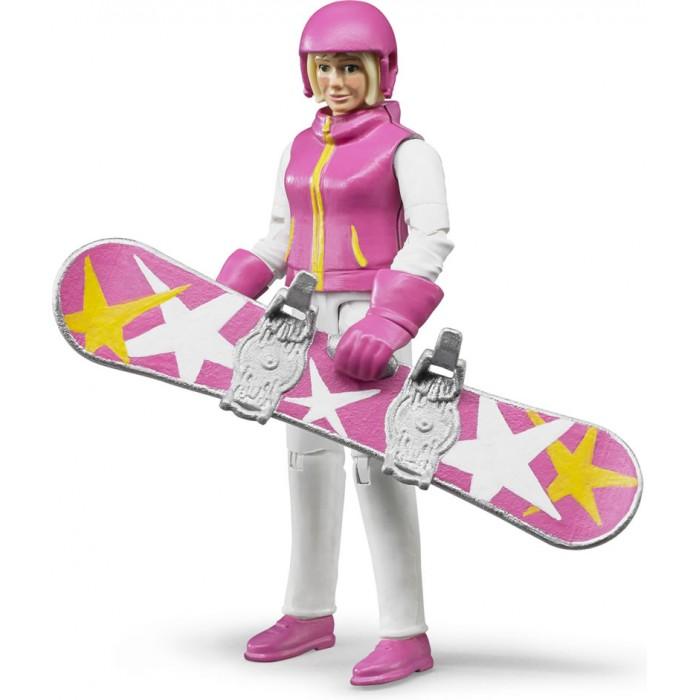 Игровые фигурки Bruder Фигурка сноубордистки