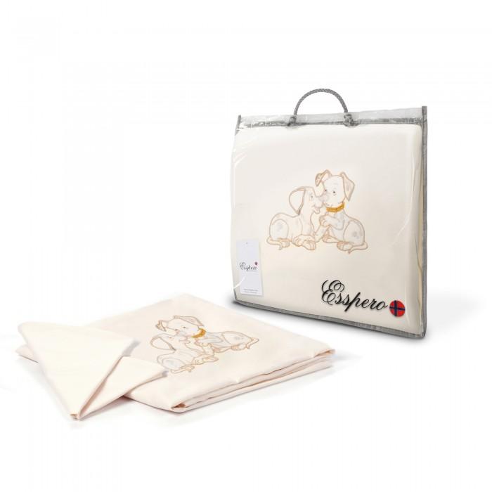 Постельное белье Esspero Dalmatians (3 предмета)Dalmatians (3 предмета)Комплект сменного белья Esspero Dalmatians состоит из трех предметов постельного белья для малыша, требующих наиболее частой смены.   Все детали комплекта исключительно из натуральных гипоаллергенных материалов, прекрасно стираются, при этом не теряя свою форму и структуру ткани.   Мягкий натуральный хлопок гигиеничен и безопасен для ребенка. Декорирован аппликацией.  В комплекте:   Наволочка 40х60 см Пододеяльник 110х140 см Простынь на резинке универсальная на матрас 120х60 / 125х65 см<br>