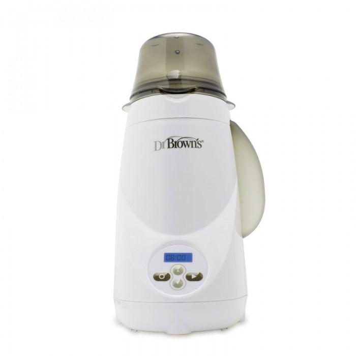 Dr.Browns Подогреватель для бутылочек электрический с цифровым управлениемПодогреватель для бутылочек электрический с цифровым управлениемПодогреватель для бутылочек Dr.Brown's разработан специально для бутылочек Dr.Browns, включая стандартные, с широким горлышком и стеклянные. Подогреватель снабжен дисплеем с подсветкой для ночного и дневного времени, удобен в управлении, начать подогрев возможно нажатием одной кнопки. Легко сохранить в памяти время, необходимое для подогрева различных размеров бутылочек. Нет необходимости менять воду между каждым использованием. Подогрев осуществляется при помощи пара.   Основные преимущества: съемный резервуар для воды позволяет добавлять воду каждые 6-12 циклов (нет необходимости сливать остатки воды) легко регулируемая съемная корзина быстро и надежно подогреет бутылочки Dr.Brawns всех семи объемов и размеров. Возможен подогрев баночек с детским питанием стандартного размера. Возможна стерилизация пустышек и предметов детского вскармливания. Электрический подогреватель с цифровым управлением Dr.Brown's Natural Flow Deluxe умещает бутылочки многих известных брендов откидываемая крышка в верхней части нагревательной камеры, во время цикла остается в закрытом положении, сохраняя пар внутри камеры, что обеспечивает эффективный безопасный нагрев за короткое время и делает работу подогревателя более безопасной программируемый пользователем цикл подогрева позволяет задать необходимую продолжительность нагревания, исходя из начальной температуры детского питания и размера и материала бутылочки, и сохранить данные в памяти подогревателя. Это четырехкнопочная клавиатура для задания продолжительности времени подогрева и для включения/выключения подогревателя. ЖК монитор показывает обратный отсчет времени. Окончание цикла сопровождается миганием дисплей и звуковым сигналом. подсветка в ночное время автоматический предохранитель, который отключит подогреватель при перегреве  Для очистки от накипи можно использовать только лимонную кислоту и