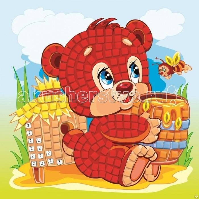 Мозаика Origami Мозаика самоклеющая Медвежонок с медом