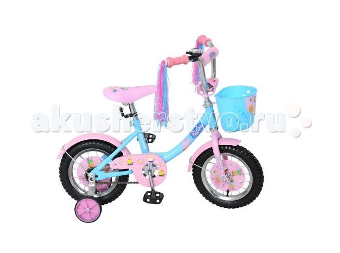 Велосипед двухколесный Navigator Peppa Pig 12 12BPeppa Pig 12 12BВелосипед Navigator Peppa Pig 12B - это хорошо собранный и надёжный велосипед для ребёнка. Велосипед оснащен корзиной для перевозки необходимых мелочей. Модель подойдет для девочки возрастом от 2 до 5 лет и ростом 90-115 см.   Особенности: Тип: детский Материал рамы: сталь Амортизация: отсутствует Конструкция вилки: жесткая Конструкция рулевой колонки: неинтегрированная, резьбовая Диаметр колес: 12 дюймов Материал обода: алюминиевый сплав Двойной обод: нет Материал бортировочного шнура: металл Возможность крепления боковых колес: есть Боковые колеса в комплекте: есть Тип переднего тормоза: отсутствует Тип заднего тормоза: ножной Уровень заднего тормоза: начальный Количество скоростей: 1 Уровень каретки: начальный Конструкция каретки: неинтегрированная Тип посадочной части вала каретки: квадрат Количество звезд в кассете: 1 Количество звезд системы: 1 Конструкция педалей: платформы Конструкция руля: изогнутый Настройка положения руля: регулируемый подъем Материал рамки седла: сталь Комфорт: защита цепи<br>