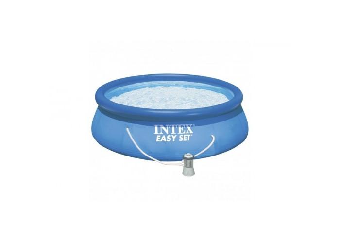 Бассейн Intex Easy Set 305х76 см с фильтромEasy Set 305х76 см с фильтромНадувной бассейн Intex Easy Set обладает двумя важными качествами: простотой конструкции и лёгким весом.   В верхней части предусмотрено надувное кольцо, которое по мере наполнения бассейна водой, поднимает и расправляет стенки, обеспечивая необходимую устойчивость. Всего 10 минут потребуется на установку конструкции.   Технология Super-Touch (сочетание винила и полиэстра), используемая в производстве, наделяет материал тройной прочностью, стойкостью к ударам, воздействию солнечного света, растягиваниям и стираниям.   Надувные бассейны, за счет отсутствия металлического каркаса, удобны в хранении и в сложенном виде не займут много места. Модель оснащена клапаном для удобства слива воды и разъемами для подключения фильтрующих и хлорирующих устройств.  Бассейн с фильтрующим насосом для очистки воды 220V. Фильтрующий насос обеспечивает очистку воды и редкую ее замену (1 раз в месяц).   В комплекте также идет ремкомплект. С его помощью вы сможете устранить самостоятельно какие-либо механические повреждения на изделии, приобретенные в ходе его использования.  Размер: 305х76 см.  Вместимость бассейна: 3853 л.  Производительность насоса: 1250 л/ч.  Вес: 8 кг.<br>