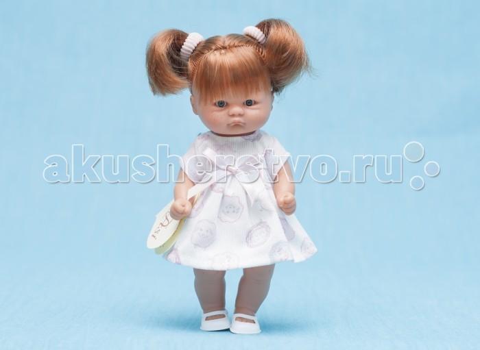 ASI Кукла пупсик 20 см 112940Кукла пупсик 20 см 112940Пупсик, размер 20 см, выполнен из винила, рыжие волосы собраны в два хвостика, в розовом платье, в красивой подарочной коробке.<br>