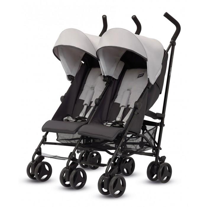 Inglesina Коляска для двойни Swift TwinКоляска для двойни Swift TwinInglesina Коляска для двойни Swift Twin очень легкая, практичная и маневренная коляска для двойни возрастом от 6 месяцев до 3 лет (вес 15 кг). У коляски для двойни Inglesina Twin Swift независимые регулируемые спинки и капюшоны, для обеспечения полной свободы двум детям.  Коляска для двойни Twin Swift стильная и функциональная, станет незаменимым спутником Ваших ежедневных прогулок с близнецами или погодками.   Особенности:  Практичная и удобная в эксплуатации   Отдельные капюшоны   Большая корзина  Система механического сложения: по типу зонтика  Спинка: регулируемая; 4 позиции  Тормозная система: независимая  Шесть двойных колесных блоков диаметром 16,5 см.,   передние колеса вращаются на 360 градусов с блокировкой на передних и задних колесах, расстояние между колесами в паре 8 см.,   материал колес - плотная резина.  Шасси коляски Twin Swift: прочная рама выполнена из легкого алюминия с шириной - 49 см  Складывать и раскладывать коляску для двойни Inglesina Twin Swift можно одной рукой. В комплекте:  бампер  дождевик   два капюшона  две корзины для покупок. Размеры и вес:  Размеры в закрытом виде: 105&#215;27&#215;45 см (высота&#215;длина&#215;ширина) без капюшона   Размеры в упакованном виде: 24,5&#215;45&#215;107 см (длина&#215;ширина&#215;высота)  Вес: 12,7 кг.<br>