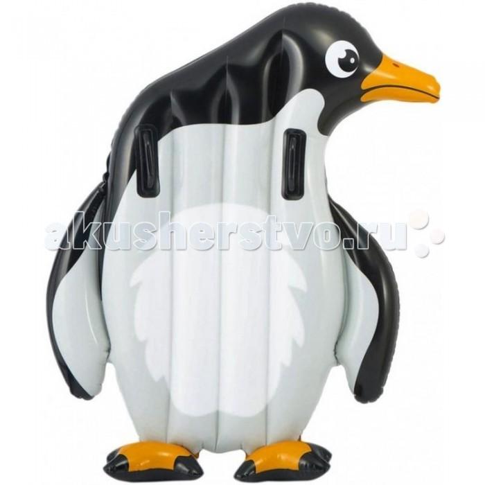 Матрасы для плавания Intex Надувной плот с держателями Крокодил/Пингвин матрасы для плавания intex плотик с ручками