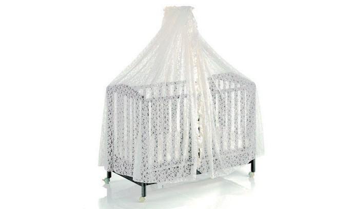 Балдахин для кроватки Italbaby кружевнойкружевнойКруговой кружевной тюлевый полог на кровать.  При изготовлении используются только натуральные безопасные материалы. Изделия выполнены по специальной технологии, гарантирующей безопасность и уют ребёнку.   Основные характеристики:  - элегантный дизайн  - струящееся роскошное кружево создает ощущение легкости и воздушности  - защитит Вашего малыша от насекомых ветра и яркого света  - изящный балдахин станет изысканным украшением детской кроватки и комнаты  стирается в щадящем режиме<br>