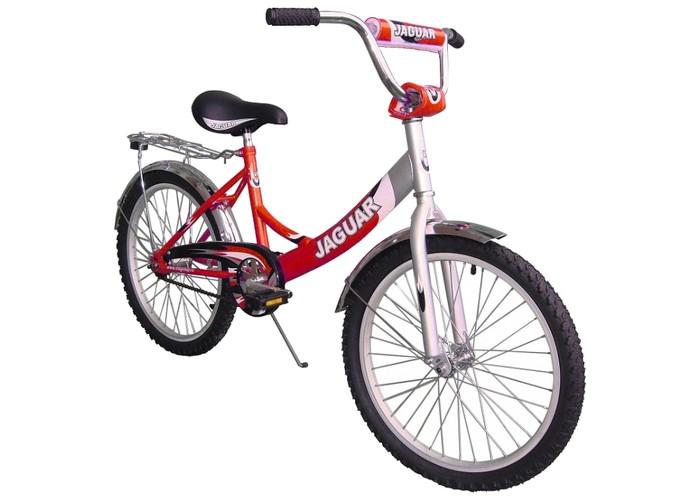 Велосипед двухколесный Jaguar MS-202MS-202Велосипед двухколесный Jaguar MS-202 поможет прекрасно провести время, а также мышцы малыша будут в тонусе. Рекомендовано детям от 6 до 11-ти лет.  Особенности: размер колеса: 20 дюймов; алюминевая L-рама (AL 7005 уменьшает вес велосипеда); пневматические шины с крупным протектором; быстро регулируемое по высоте сиденье; быстроcемное переднее колесо (зажим-эксцентрик); задний ножной тормоз; пластиковые крылья; алюминиевые точеные обода, руль и вынос руля; трехкомпонентный шатун; подножка (регулируемая по высоте); пластиковая защита цепи; светоотражающие катафоты.<br>