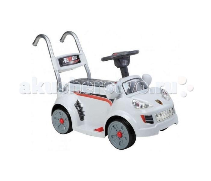 Электромобиль Jiajia B26 музыкальный Д/УB26 музыкальный Д/УJiajia Электромобиль B26 6V музыкальный с дистанционным управлением - этот стильный автомобиль с оригинальным дизайном покорит сердце вашего ребенка и станет его любимой игрушкой для дома и прогулок на свежем воздухе. Эта яркая замечательная машинка приведет в восторг любого юного водителя, ведь она сочетает в себе три функции: электромобиль-машинка толокар ходилки Управление электромобилем очень простое. У него имеется одна педаль с правой стороны, нажав на которую мотоцикл начинает ехать. Чтобы остановиться нужно просто отпустить педаль. Также в комплекте идет пульт управления для родителей, чтобы можно было контролировать безопасность езды вашего малыша.  Благодаря небольшим размерам машинки, она также может приводиться в движения ножками малыша. На багажнике автомобиля имеются две удобные ручки, за которые малыш может без труда везти игрушку перед собой. Максимальная длительность одной поездки без дополнительной подзарядки составляет 1,5 часа. Электромобиль развивает у ребенка навыки вождения, координации в пространстве, общей моторики и мышления. Изготовлен из экологически чистых материалов.  Преимущества: возраст: 2-7 лет максимальная нагрузка 20 кг дистанционное управление музыкальные эффекты максимальная скорость – 2.5 км/час удобная ручка-толкатель может выступать в роли обычной каталки можно использовать в качестве ходунков напряжение аккумуляторной батареи – 6 В двигатель – 12 Вт зарядное устройство в комплекте время работы аккумулятора 1,5 часа время зарядки аккумулятора 8-12 часов размеры: 73 х 33 х 50 см<br>