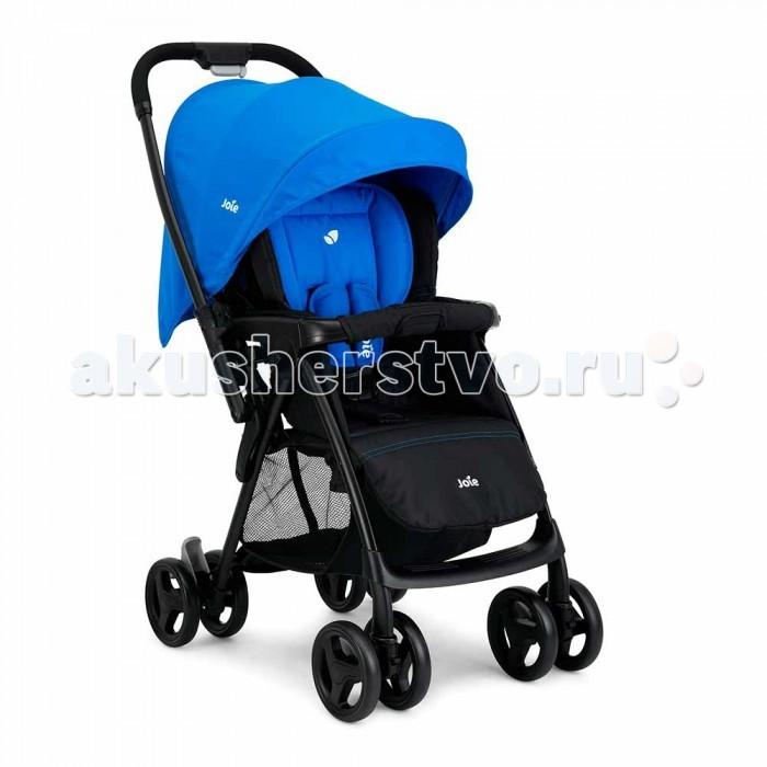Прогулочная коляска Joie MirusMirusПрогулочная коляска Joie Mirus - легкая и практичная коляска от рождения до 3-х лет (до 15 кг), спроектированная специально для вашего комфорта и простоты в использовании   Удобная перекидная ручка позволит вашему ребенку видеть мир со всех сторон. Перекидная ручка позволяет в считанные секунды развернуть вашего ребёнка и укрыть его от ветра, снега и дождя. Высококачественный алюминий придает коляске прочность и лёгкость (6,8кг). Мягкий материал 5-точечного ремня безопасности обеспечивает малышу уют и комфорт.  Многопозиционный, полностью раскладывающийся механизм кресла позволяет опускать спинку до горизонтального положения одним движением руки. Отсутствие шероховатости на педали тормоза позволяет вашей обуви оставаться невредимой.   Особенности:   Складной механизм коляски имеет автоматический замок-фиксатор, предотвращающий ее произвольное раскрытие при транспортировке и хранении. Сложенную коляску можно хранить в вертикальном положении без опоры.  Механизм наклона спинки позволяет поменять положение ребенка с сидячего на лежачее всего одним движением руки.  Самая полная комплектация! Регулируемое сиденье, регулируемый по высоте ремень безопасности, перекидная ручка, большая корзинка для покупок, большой капюшон.  Сварное алюминиевое шасси и высококачественный пластик позволяют нашей коляске быть прочной, упругой и лёгкой.   Совместима с автокреслом Gemm без приобретения дополнительных адапторов.<br>