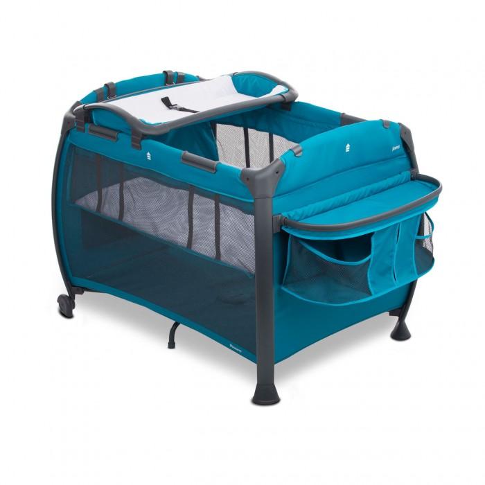 Манеж Joovy RoomRoomМанеж Joovy Room: кроватка, пеленальный столик и манеж для игр.  Огромный органайзер позволяет разместить все необходимые подручные вещи: пеленки, памперсы, бутылочки и игрушки общим весом до 4 кг.   Съемный пеленальный столик оснащен ремнем безопасности. Сумка-переноска позволит взять манеж на дачу или в путешествие.<br>