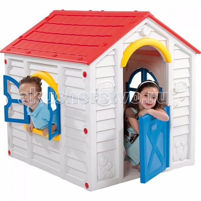 Keter Игровой домик RanchoИгровой домик RanchoKeter Rancho - идеальное место для игр вашего малыша. Благодаря упрочненному гигиеничному пластику из современных материалов яркой расцветки, этот домик станет украшением как сада или двора, так и помещения. Домик легко собирается, не выгорает на солнце и не боится мороза. Замечательная игровая зона для ваших детей. Для сборки не требуется никаких инструментов, а сам процесс займет всего пару минут. Игровой домик с окном и подоконником для цветов. Повседневный отдых для детей станет комфортней и интересней. Вы сможете расслабиться, зная что ваши дети играют в безопасности, будь это внутри помещения или в вашем дворе. Способен выдерживать дождь, ветер и снег, при этом достаточно легкий, чтобы передвигать его в вашем дворе.   Материалы: - долговечный пластик, устойчивый к выгоранию  Особенности: - рекомендуется для детей от 2-3-х лет - прочная конструкция - быстро собирается и компактно складывается - все элементы соединяются между собой специальными защелками и гайками, входящими в комплект - не требует специального инструмента для сборки и разборки - удобный красивый вместительный домик для веселой игры на свежем воздухе - окно c подоконником для цветов, ставни - подходит как для одного малыша, так и для коллективных игр  Общие размеры (дхшхв): 99х118х117 см Габариты в упаковке: 122x104x19 см Объем: 0.24 м3<br>