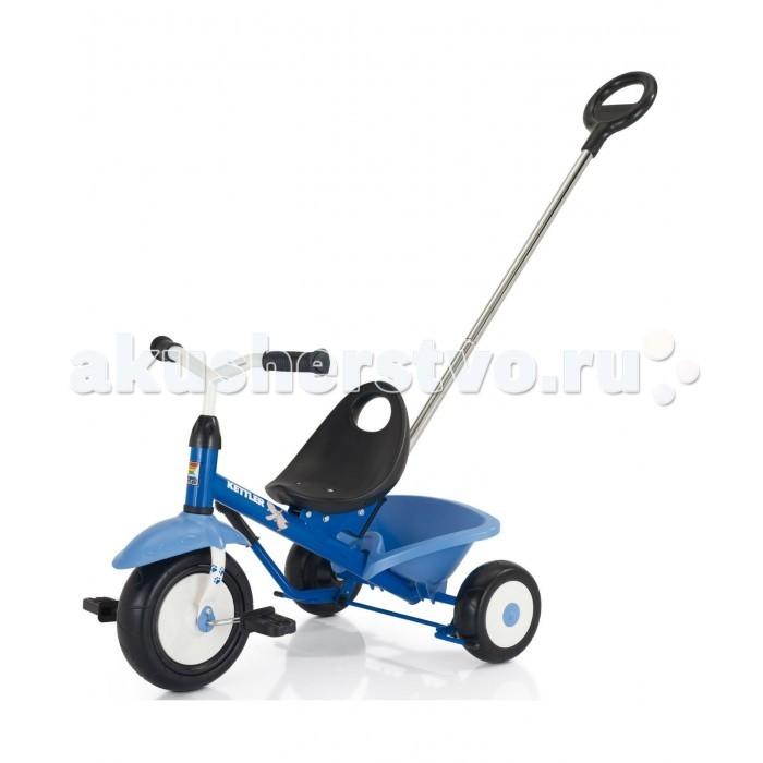 Велосипед трехколесный Kettler FuntrikeFuntrikeЛегкий трехколесный велосипед Funtrike с анатомическим сиденьем, блокировкой переднего колеса и съемной родительской ручкой.  Особенности:  рекомендовано для детей от 2 лет высококачественная рама из трубы с туннельным профилем, покрытая прочным не выгорающим полиэстеровым покрытием предохранительная крышка в месте соединения руля с рамой широкие колёса переднее колесо с возможностью отключения вращения педалей для безопасности ног ребёнка при толкании повышенная устойчивость за счёт низкорасположенного центра тяжести сиденье с высокой спинкой откидывающийся кузов с фиксатором делящаяся пополам ручка для толкания с возможностью регулировки высоты для подгонки под рост родителя цветная коробка проверено немецкой технической комиссией T&#220;V, что и подтверждается значками и сертификатами T&#220;V/GS (проверенная безопасность)   Вес:  7,5 кг Размер:  72 х 50 х 50 см Материал:  Металл, пластик  Размер упаковки: 51 х 61 х 20 см<br>