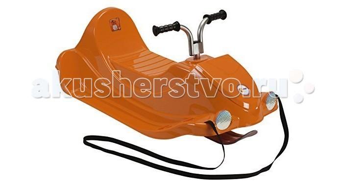 Санки KHW Snow QuadSnow QuadСанки детские KHW Snow Quad - это принципиально новая модель санок-снегокатов, изготовленных немецкой компанией KHW. Новые санки сделаны таким образом, чтобы обеспечивать максимальную безопасность ребенка, при этом они позволяют обеспечить комфортное катание.  Особенности: спортивные санки, которые выглядят как мини-мотоцикл в модели продумана каждая мелочь, поэтому даже для трехлетнего ребенка катание будет безопасным корпус санок имеет плавные обтекаемые формы, для ног имеются ступеньки с ребристыми частями и передним ограничителем, который выглядит снаружи как фара металлические полозья для комфортного скольжения санок спрятаны под пластиком – морозостойким и противоударным есть дополнительная лыжня, расположенная по центру санок и немного выдвинутая вперед за пределы корпуса, она обеспечивает санкам хорошую устойчивость и маневренность, т.к. является управляемой для того чтобы управлять передней лыжней разработан специальный руль, схожий с велосипедным, он достаточно прост в дизайне и управлении с удобными ручками, которые прорезинены капот на санках открывается, образуя небольшой ящик, в который можно спрятать буксировочный трос или, к примеру, любимую игрушку ребенка, без которой на прогулке никак санки многофункциональны, их можно использовать как снегокат для горок или же, как обычные санки, которые родитель может тянуть за веревку за собой  Комплектация: санки прорезиненный материал, из которого вырезается накладка для сидения буксировочная веревка  Габариты: длина/ширина – 91х48 см высота – 40.5 см максимальный вес – 40 кг<br>