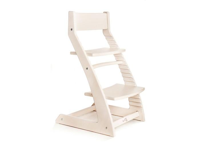 Стульчик для кормления Kotokota регулируемыйрегулируемыйСтульчик для кормления Kotokota регулируемый обеспечит ребенку правильную осанку за столом, в отличие от детских компьютерных кресел и стульев без подножки и регулировки глубины сиденья. Деревянный стульчик-трансформер позволит малышу почувствовать себя взрослым и самостоятельным (даст возможность садиться за стол и выходить без помощи взрослых). Стул для школьника поможет не устать во время чтения, рисования, занятий с компьютером и других важных дел.  Впишется в любой интерьер. Прослужит долго и надежно ребенку, а также пригодится в качестве дополнительного или барного стула для взрослых. Регулируемый детский стул позволит ребенку самостоятельно придвигаться и отодвигаться от стола благодаря специальным тефлоновым накладкам на ножках. Стул очень устойчивый. Выдержит вес до ста килограммов.  Для изготовления детских регулируемых стульев применяется березовая фанера производства UPM-Kymmene Oy (Финляндия). Использован водный лак с восковым эффектом для дерева, который не содержит вредных веществ и растворителей и соответствует директиве EC EN 71.3 о безопасности игрушек и детской мебели.  Может использоваться с письменными, компьютерными и обеденными столами высотой от 65 до 75 сантиметров. Стулья-трансформеры поставляются в удобной плоской упаковке, обеспечивающей сохранность при транспортировке.   Размеры стула ( длина*ширина*высота ) : 50*46*80 сантиметров. Допустимая нагрузка: 100 килограммов. Регулировка сидения по высоте - 6 положений Регулировка подножки по высоте - 11 положений Регулировка сиденья по глубине бесступенчатая.<br>