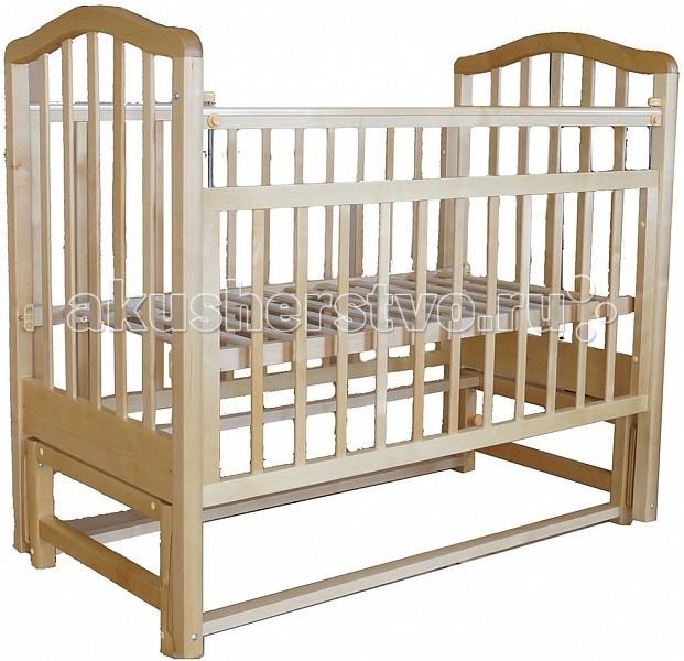 Детская кроватка Лаура 3 маятник поперечный3 маятник поперечныйДетская кроватка Лаура 3 маятник поперечный с фиксатором   Модель снабжена удобным механизмом поперечного качания, который ежедневные заботы и хлопоты по укладыванию ребенка спать превратит в легкие и приятные.  Особенности: Мебель лаконичная и элегантная, лишена неоправданной объемности, а потому не загромождает пространство детской Лаура-4 кроватка отлично подходит для небольших комнат Реечные панели обеспечивают естественную вентиляцию спального места Кроватка имеет регулируемое ортопедическое ложе Имеет возможность регулировки ортопедического ложа на 2х уровнях Передняя панель кроватки Лаура-4 может удобно регулироваться по высоте или же сниматься вовсе и тогда она превращается в удобный и практичный диванчик, который будет уместным решением в комнате ребенка, что немного подрос Мебель производится в соответствии с европейскими нормами качества Лаура изготовлена из массива березы, покрашена экологичными лаками и красками на водной основе Кроватка лишена острых углов и мелких деталей, которые потенциально несут угрозу малышу<br>