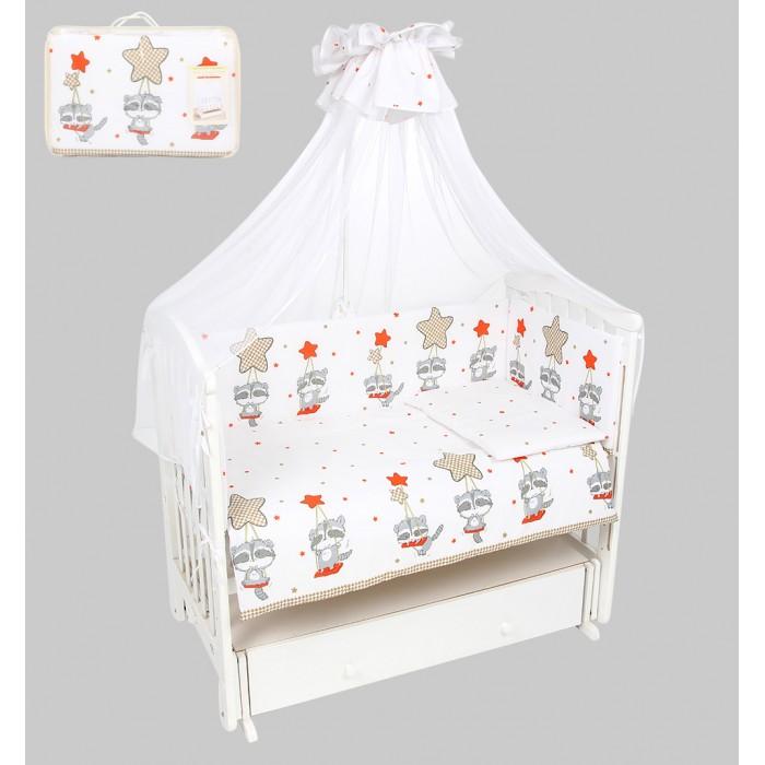 Комплекты в кроватку Leader Kids Енот на качелях (7 предметов) комплекты в кроватку leader kids мишки в квадратах 7 предметов