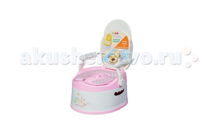 Горшок Liko Baby BabyValley детскийBabyValley детскийУникальный детский горшок Liko baby BabyValley.  Оригинальный дизайн и конструкция модели. Устойчив на любых плоских поверхностях.  Сиденье от горшка устанавливается на крышку унитаза, что значительно ускоряет переход ребенком от пользования горшком к пользованию взрослым туалетом.  Для удобства малыша предусмотрены складывающиеся анатомическая спинка и поручни. В разложенном состоянии спинка и поручни фиксируются при помощи специальной задвижки.   Изготовлен из высокоочищенных и безопасных для детей полимеров.  Раковина горшка вынимается и чистится отдельно от него. При сложенных спинке и поручнях горшок принимает компактный вид и удобен для транспортировки, для этой же цели в корпусе горшка предусмотрены отверстия под руку взрослого человека. Крышка позволяет поддерживать чистоту горшка и вокруг него.<br>