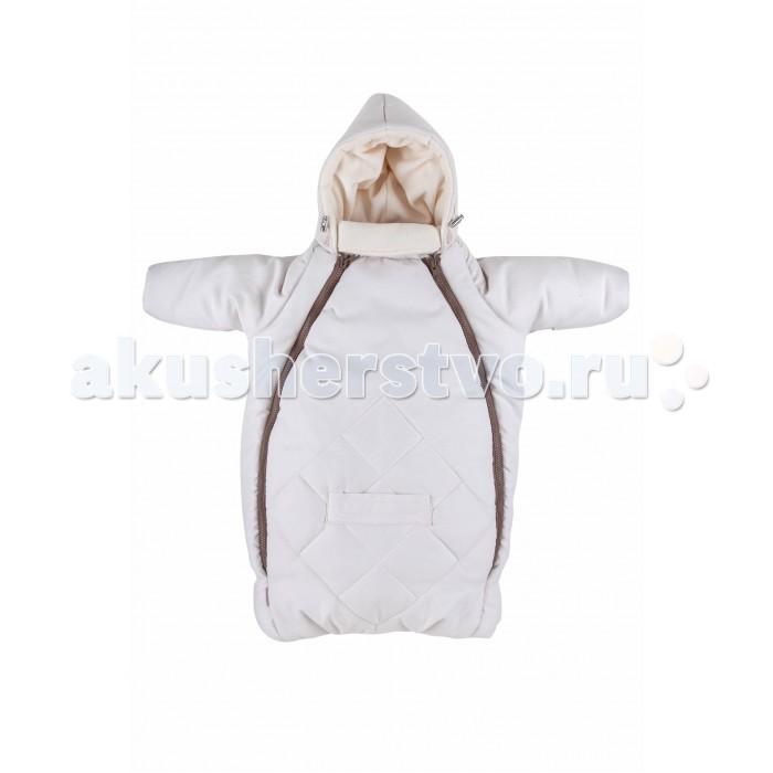 Mammie Конверт для новорожденного с рукавамиКонверт для новорожденного с рукавамиMammie Конверт для новорожденного с рукавами предназначен для прогулки с малышом в коляске, идеальный вариант для выписки в автокресле.  Особенности: капюшон плотно прилегает к голове благодаря утяжкам;  длинный воротничок стойка надежно защищает шею ребенка, в сильные морозы воротник можно отвернуть и закрыть лицо ребенка до носа;  мягкая подкладка из флиса,  верх выполнен из мягкой эко замши с эффектом персика с водооталкивающей пропиткой,   отвороты на ручках (заменяют варежки);  2 молнии, благодаря которым конверт глубоко расстегивается, чтобы ребенка было легче одевать и раздевать;  прорези для автомобильных ремней безопасности;  простота в уходе — конверт можно стирать в стиральной машине. Материал:верх-экозамша (100% полиэстер), подкладка флис (100% полиэстер) утеплитель -полиэстер 300 г/м.кв.<br>