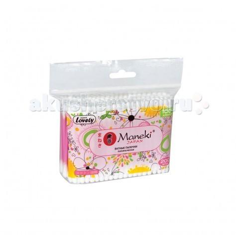 Уход за малышом Maneki Lovely Палочки ватные 200 шт. ватные палочки бел премиум сменный блок 200 шт