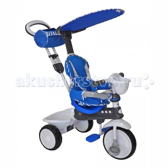 Велосипед трехколесный Mars Mini Trike LT-7811Mini Trike LT-7811Велосипед трехколесный Mars Mini Trike LT-7811 обеспечит комфорт и удовольствие для вашего малыша во время прогулки.  Такой универсальный детский транспорт позволяет ребенку как ездить самостоятельно, так и кататься под контролем взрослого. При самостоятельном передвижении ребенок будет приводить велосипед в движение при помощи педалей и управлять им рулем. Если же велосипед выполняет функцию прогулочной коляски, взрослый сможет толкать его перед собой при помощи специальной ручки, которая также служит и для управления.  Особенности: яркий, неповторимый дизайн удобная регулируемая ручка сиденье с высокой спинкой, мягким вкладышем и удобными ремнями безопасности разъемный бампер съемная подножка противоскользящие педали нескользкие ручки руля пластиковые колеса с дисками 108 (функция свободного колеса) съемный тент защищающий от солнца и дождя пластиковая корзина для вещей и игрушек сумочка для мелочей на родительской ручке на руле имеется емкость для бутылочки Размеры: 80x40x90 см<br>
