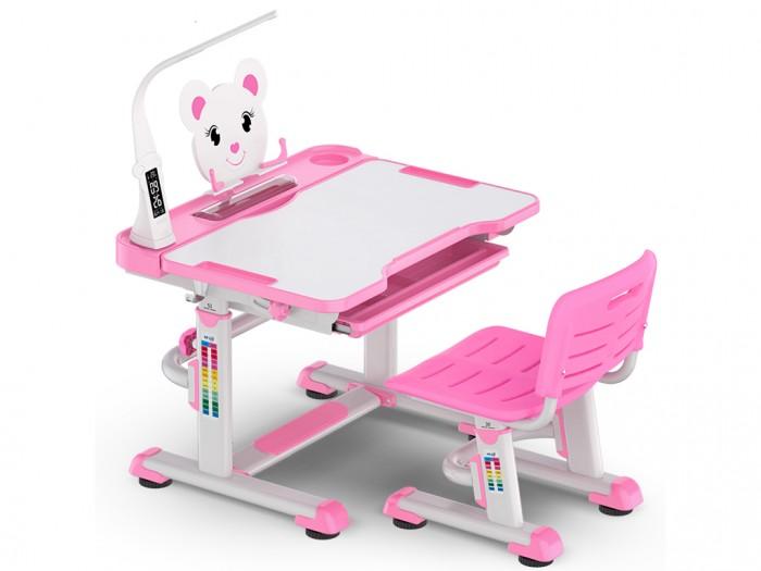 Mealux Комплект мебели столик и стульчик EVO-04 XL с лампойКомплект мебели столик и стульчик EVO-04 XL с лампойMealux Комплект мебели столик и стульчик EVO-04 XL с лампой  Барьер удержит тетради и книги на столе при наклоне. Большой ящик-органайзер для тетрадей и канцелярии, позволит держать все в одном месте. Пенал для самого необходимого.   Усиленный пластик стульчика повышает надежность и долговечность. Угол наклона столешницы изменяется при ослаблении фиксаторов.   Регулировка высоты имеет дополнительные фиксаторы. Ножки парты имеют специальные накладки.   Размеры: Ширина, см: 80 Глубина, см: 60 Max высота столешницы: 78 см. Min высота столешницы: 52 см. Регулировка высоты: Да Угол наклона: 0-40 град. Высота, см: 52 - 78<br>
