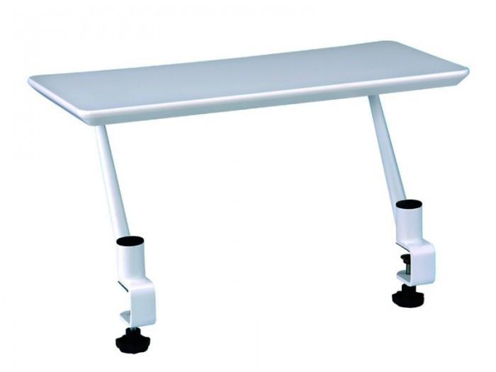 Mealux Полка для книг BD-S03Полка для книг BD-S03Mealux Полка для книг BD-S03 идеально сочетается со столом Kant.  Универсальное крепление позволит одеть полочку на столы с толщиной столешницы до 27 мм. Размер: 30х60 см.<br>
