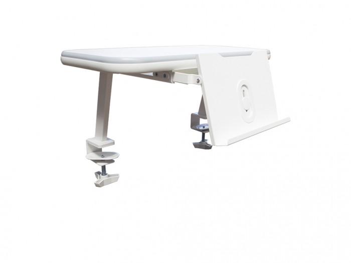 Mealux Полка для книг EVO-S513Полка для книг EVO-S513Mealux Полка для книг EVO-S513  Подставка для книг позволит освободить место на поверхности стола, и удержит открытую книгу в удобном положении, при необходимости прячется в полку.  Универсальное крепление позволит одеть полочку на столы с толщиной столешницы до 30 мм.<br>