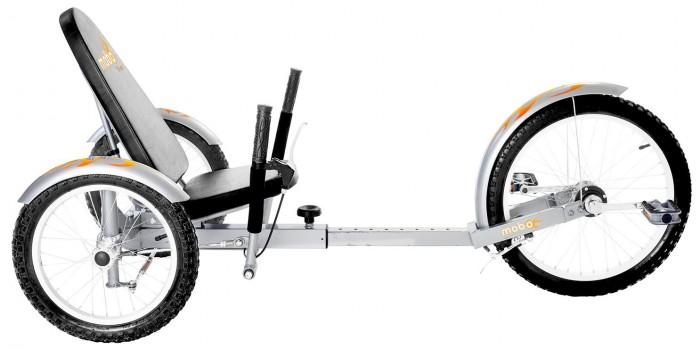 Велосипед трехколесный Mobo Круизер Triton ProКруизер Triton ProВелосипед трехколесный Mobo Круизер Triton Pro - классический трехколесный круизер с новой инновационной системой управления. Благодаря простоте в управлении и удобству, этот круизер будет отличным помощником для активных тренировок.   Спортивный дизайн, низкая посадка, инновационная система управления на задние колеса - предлагают вам поездку, от  которой вы получите удовольствие и эмоции, которых вы прежде не испытывали от катаний на велосипеде. Эргономичное лежачее сиденье и прочная регулируемая рама гарантируют вам комфорт в поездке и долговечность эксплуатации круизера.  У Тритона Pro есть регулируемая рама, благодаря которой на круизере могут кататься дети и взрослые ростом до 192 см. Ручные тормоза, переднее и задние колеса со свободным ходом, стильный дизайн - вот  лишь немногие особенности этого круизера.  MOBO Triton Pro - отличное средство для новых открытий и приключений.  Особенности: эргономичный дизайн инновационная устойчивая система рулевого управления удобное сиденье с высокой спинкой флаг безопасности для лучшей видимости ручной тормоз свободное колесо без цепи безопасно низкая посадка  низкая к земле рама для оптимальной устойчивости, которая растет вместе с вашим ребенком до роста 192 см  развивает зрительно-моторную координацию и балансирование укрепляет силу рук и ног долговечный и прочный стильный дизайн. Для детей от 12 лет.   Размер круизера:  122-155х71х73.6 см<br>