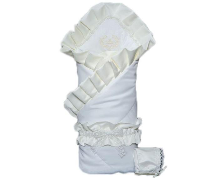Мой Ангелок Конверт-одеяло на выписку М 4049Конверт-одеяло на выписку М 4049Конверт-одеяло Мой ангелок М-4049 приятно выделяется на фоне классических решений, привлекая внимание своим выдержанным шиком, лаконичной элегантностью и красотой.  Ничего лишнего и в то же время все очень опрятно и выразительно.  Одеяло-конверт теплое и просторное, классической формы, может использоваться в повседневной жизни для обеспечения комфорт малышу Конверт выполнен из сатина – плотной хлопковой ткани, декорирован кружевными рюшами, а в качестве мягкого теплоизолирующего наполнителя используется экологичный файберпласт – один из немногих стандартизированных материалов, одобренных нормами ЕС Также в комплекте с конвертом идет меховой пледик размер 70х70 см, нарядный чепчик и красочный пояс с бантом Такой конверт прослужит долго, является классическим решением  Размер 100х100 см  Материал - сатин (хлопок 100%), тафта, кружево.  Допустима машинная стирка при 30-40 °С<br>