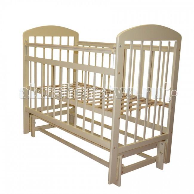 Детская кроватка Ивашка Мой малыш 9 маятник поперечныйМой малыш 9 маятник поперечныйДетская кроватка Ивашка Мой малыш 9 маятник поперечный выполнена из экологичных, гипоаллергенных материалов.   Кроватка обладает высоким качеством и комфортом, как для ребенка, так и для родителей. Благодаря современному дизайну и спокойной, мягкой расцветке она впишется в интерьер любой спальни или детской комнаты.  Кровать изготовлена из массива березы Механизм маятника поперечный Положение боковой планки регулируется опускающимся устройством Боковая стенка съемная Специальная защитная накладка на бортиках Есть фиксатор, предотвращающий раскачивание кроватки Двойной уровень поддона Днище - реечное<br>