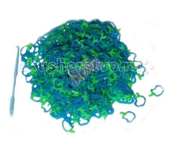 Наборы для творчества Molly Резинки для плетения разноцветные Яблоко 600 шт. molly набор fashion большой станок 600 резинок