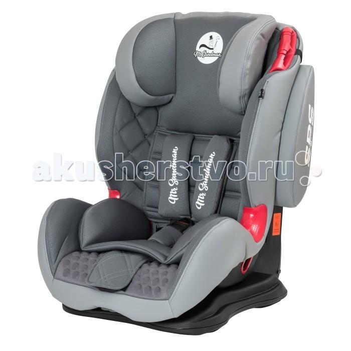 Автокресло Mr Sandman BH12310-GTS-SPSBH12310-GTS-SPSАвтокресло Mr Sandman BH12310-GTS-SPS предназначено для групп 1, 2 и 3.  Сиденье анатомическое, имеет инновационную систему боковой защиты SPS (side protection system), чтобы путешествие каждого ребенка было безопасным и комфортным. Автокресло, гарантирующее безопасность ребенка во время поездки.   В данном кресле ребенок может занять любую удобную позу. Этот факт дает возможность отправляться не только на близкие расстояния, но и на дальние поездки, в том числе и в путешествия.  Соответствует европейскому стандарту ECE R44/04, а качество и надежность подтверждены независимыми краш-тестами.  Обивка автокресла из эко-кожи. Детское кресло изготовлено из проверенного чистого материала.  Особенности: Пятиточечные ремни безопасности.  Регулировка наклона спинки. Анатомическая подушка и мягкий подголовник для максимального комфорта. Установка кресла выполняется по ходу движения авто.  Крепление осуществляется штатным ремнем через специальные монтажные элементы.  Габариты: 54.5/66х50х64/76 см<br>